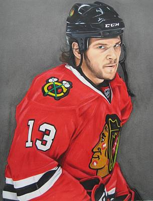Nhl Ice Hockey Drawing - Angry Carbomb by Brian Schuster