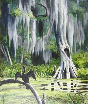 Anhinga Painting - Anhinga by Debi Davis