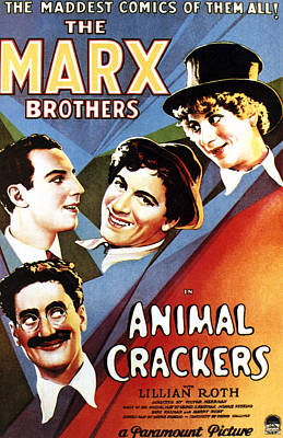 Groucho Marx Photograph - Animal Crackers, From Bottom Left by Everett