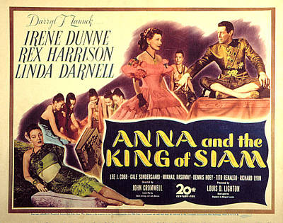 Anna And The King Of Siam, Linda Print by Everett