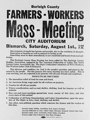 Announcement For A 1937 Farmers Mass Print by Everett