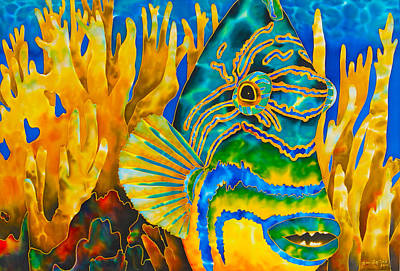Reef Fish Painting - Anse Chastanet by Daniel Jean-Baptiste