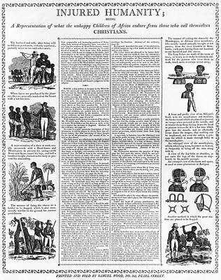 Abolition Photograph - Anti-slavery Broadside by Granger