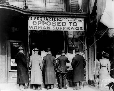 Anti Suffrage Headquarters Print by Padre Art