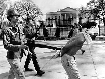 Anti-vietnam War Protestors Calling Print by Everett