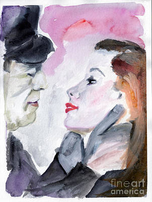 Anticipation Of A Kiss  Print by Ginette Callaway