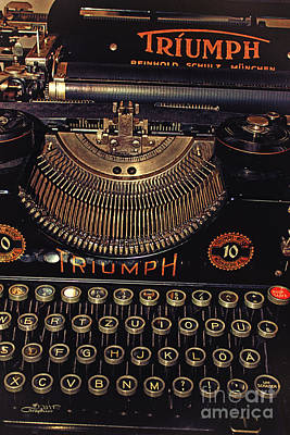 Outmoded Photograph - Antiquated Typewriter by Jutta Maria Pusl
