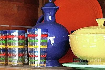 Fiestaware Photograph - Antique Fiesta Dishes 3 by Marilyn West