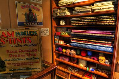 Antique General Store Linen - General Store - Vintage - Nostalgia Print by Lee Dos Santos