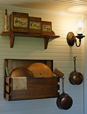 Wooden Ware Photograph - Antique Kitchen Wares by Carmen Del Valle