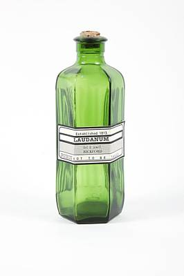 Antique Laudanum Bottle Print by Gregory Davies, Medinet Photographics