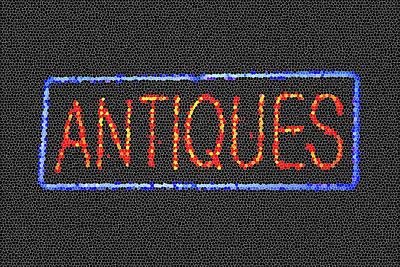 Rustic Digital Art Digital Art - Antiques Mosiac by Melany Sarafis