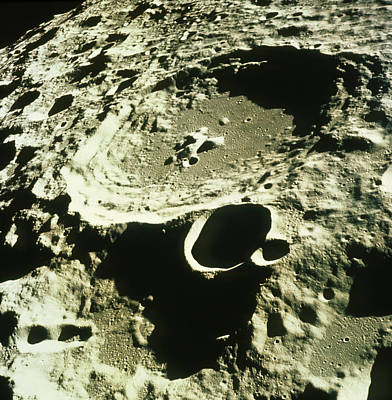 Far Side Photograph - Apollo 11 Image Of Craters On The Moon by Nasavrs