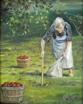 Landscape Painting - Apple Harvest by Gloria Jean