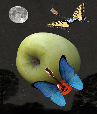 Blue Butterfly Digital Art - Apple Rhythm  by Eric Kempson