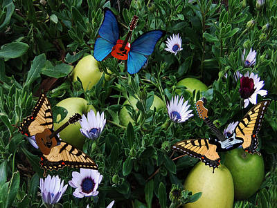 Blue Butterfly Digital Art - Apple Rocks by Eric Kempson