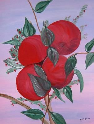 Mark Moore Painting - Apple Tree by Mark Moore