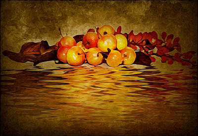 Oil Paint Mixed Media - Apples by Svetlana Sewell
