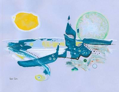 Aqua- Planet Print by Ralf Schulze