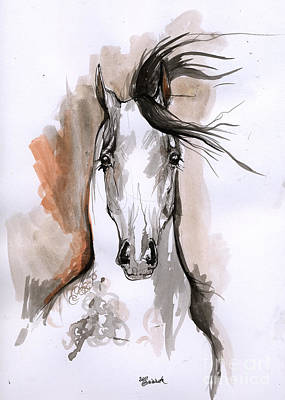 Arabian Horse Ink Drawing 2 Original by Angel  Tarantella