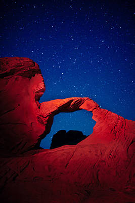 Valley Of Fire Photograph - Arch In Red And Blue by Rick Berk