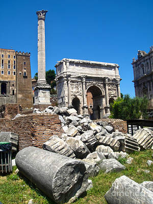 Arch Of Septimius Severus Print by Gregory Dyer