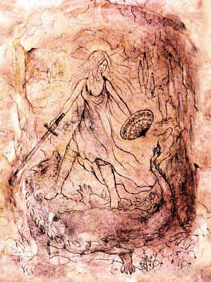 Revelation Drawing - Archangel Study by Rachel Christine Nowicki