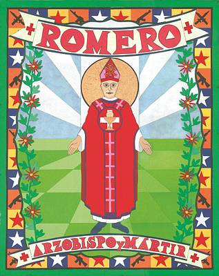 Archbishop Romero Icon Print by David Raber
