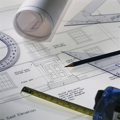 Technical Photograph - Architectural Drawings by Tek Image