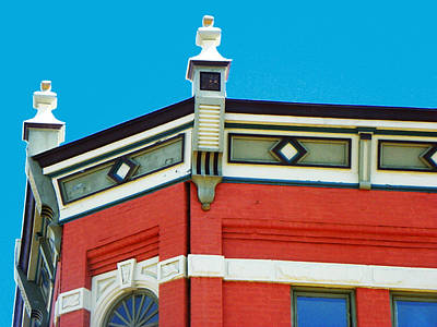 Architecture And Sky Print by Lenore Senior