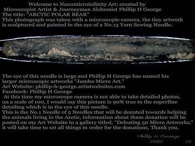 Nanomicroinfinity Art Painting - Arctic Polar Bear  by Phillip H George