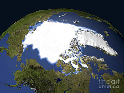 Arctic Sea Ice, 1979 Print by NASA / Science Source