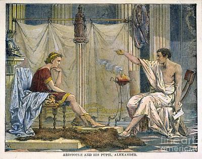 Aristotle & Alexander Print by Granger