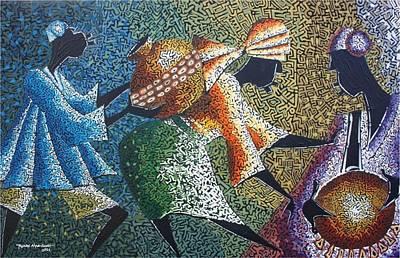 Yoruba Painting - Ariya Celebration 2 by Aderonke Aina-Scott