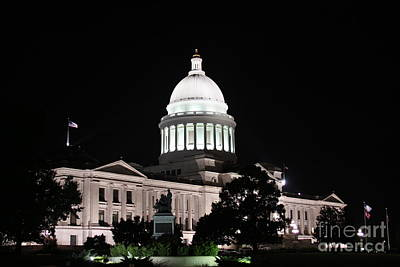 Arkansas State Capital Print by Joe Finney
