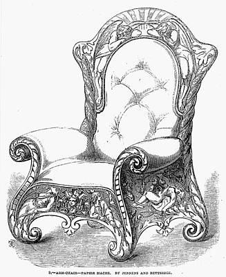 Paper Mache Photograph - Armchair, 1851 by Granger