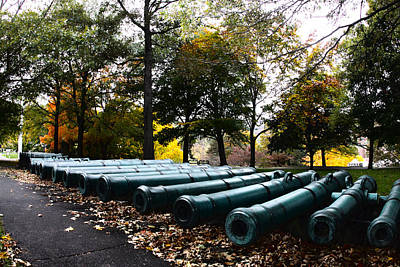 Army Cannons In A Row Print by Army Athletics