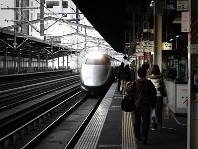Arriving Train Print by Naxart Studio