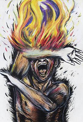 Arsonphobia Print by Melissa Gallardo