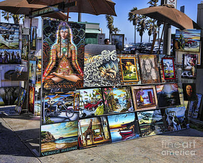 Psychedelic Rock Photograph - Art 4 Sales Venice Beach by Chuck Kuhn