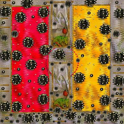 Ladybug Mixed Media - Art Modern by Pepita Selles