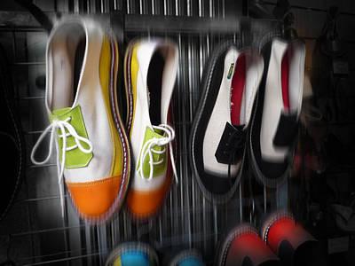 Shoes Digital Art - Art Shoes by Charles Stuart