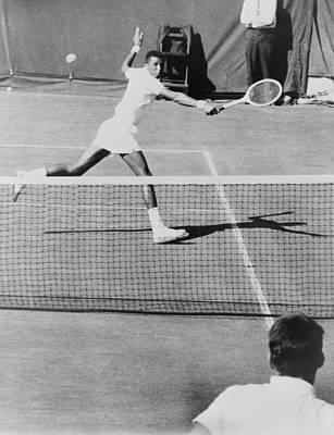 Arthur Ashe, 1943-1993, Playing Tennis Print by Everett