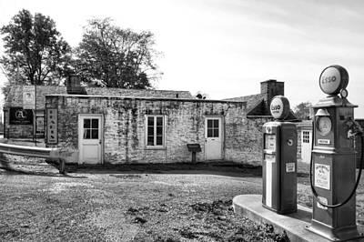 Arthurdale Gas Station I Print by Steven Ainsworth