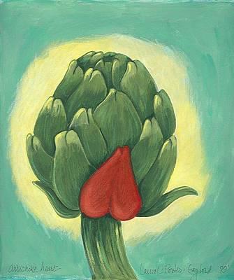 Artichoke Mixed Media - Artichoke Heart by Laurel Porter-Gaylord