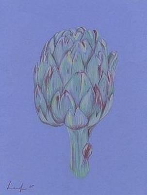 Artichoke Drawing - Artichoke by Jennifer Leaf