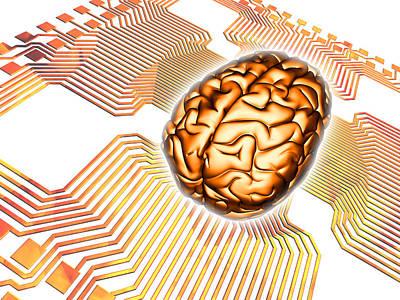 Artificial Intelligence, Computer Artwork Print by Pasieka