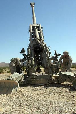Artillerymen Manning The M777 Print by Stocktrek Images