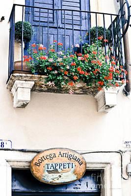 Stone Planter Photograph - Artisan's Balcony by Gordon Wood