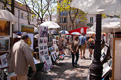 Artist Colony Of Montmartre Print by Jon Berghoff
